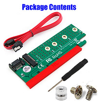 XT-XINTE M.2 NGFF B-key SATA-Bus SSD to SATA3 Adapter PCIe Slot Riser Card Support 2230/2242/2260/2280 M2 SSD
