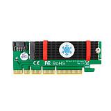 XT-XINTE NGFF M.2 B Key SATA-Bus SSD to SATA3 Adapter with Heatsink PCIE x1 x4 x8 x16 Slot SATA Cable for 2230 2242 2260 2280 M2 SSD