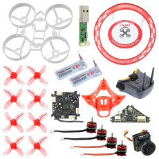 JMT DIY 65MM Brushless Whoop Indoor FPV Racing Drone RC Quadcopter Combo Kit With F4 Flight Control 5.8G VTX Turbo Eos2 Camera SE0603/SE0802 Motor F4 1.0/F4 2.0 Optional Support Customization