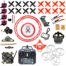 JMT DIY 75MM Brushless Whoop FPV Racing Drone RC Quadcopter Combo Kit With F4 Flight Control 5.8G VTX Turbo Eos2 Camera FPV Watch/Goggles SE0802 Motors
