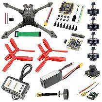 JMT Falcon-220 220mm DIY FPV Racing Drone Quadcopter Combo Kit BS430 30A ESC F4 Pro V2 Flight Control 1200TVL Camera