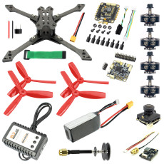 JMT Falcon-220 220mm DIY FPV Racing Drone Quadcopter Combo Kit BS430 30A ESC F4 Pro V2 Flight Control 1200TVL Camera