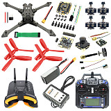 Full Set With FPV Goggles JMT Falcon-220 220mm DIY FPV Racing Drone Quadcopter BS430 30A ESC F4 Pro V2 Flight Control 1200TVL Camera FS I6 TX