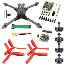 JMT Falcon-220 220mm DIY FPV Racing Drone Quadcopter Soldered Combo Kit BS430 30A ESC F4 Pro V2 Flight Control 2306-2400KV Motor 5045 Props