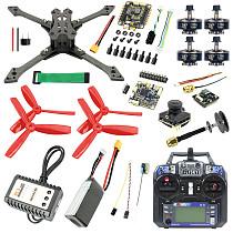 Full Set JMT Falcon-220 220mm DIY FPV Racing Drone Quadcopter BS430 30A ESC F4 Pro V2 Flight Control 1200TVL Camera FS I6 TX