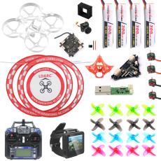 Flysky FPV Version DIY Mobula 7 V3 FPV Drone Accessories Combo Full Set with Transmitter FPV Watch Crazybee F4 PRO FC V3 Frame SE0802 Motor Turbo Eos2 Camera VTX Arch Apron for Mobula7 75mm Bwhoop75 Brushless Whoop Eachine TRASHCAN TC75