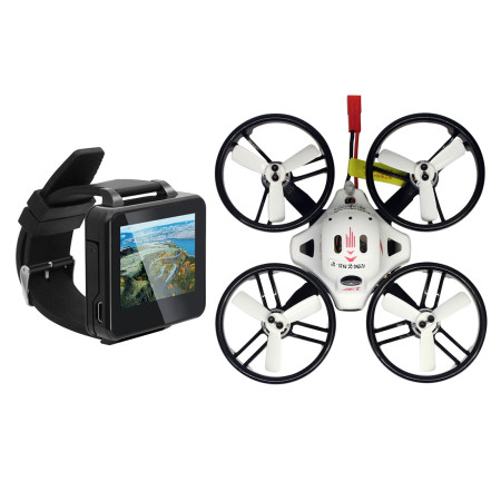 KINGKONG LDARC ET125 PNP Brushless FPV Racing Drone RC Mini Quadcopter with FRSKY Receiver FPV Watch