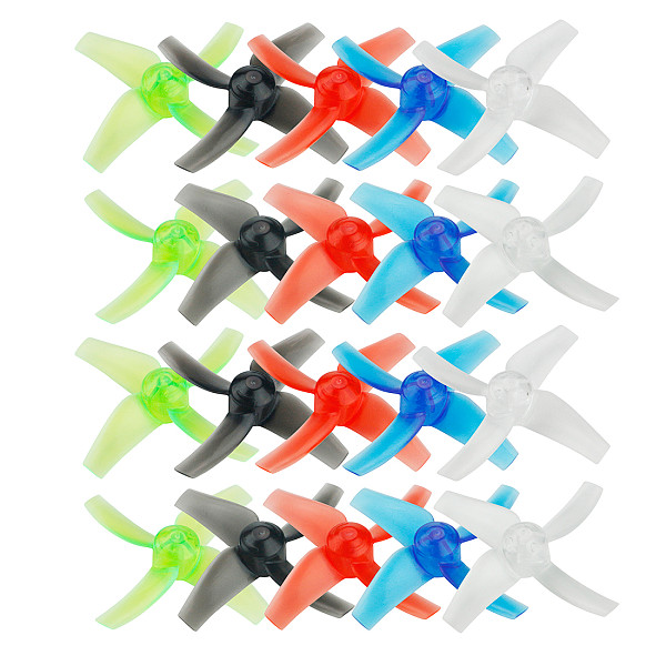 LDARC 10Pairs 40mm / 48mm 4-Blades Paddle Tiny Propeller CW CCW 1.5mm Hole for Beta 75X / GT8 Mini Drone 1102 1103 0803 0804 Motors