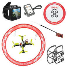 Mini Brushless Racer FPVEGG PRO PNP Set with 138mm Frame Frsky Flysky RX FS I6 TX FPV Watch Apron RC Drone DIY Aircraft Full Set