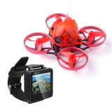 Snapper6 1S Brushless Whoop Racer Drone BNF with FPV Watch 65mm Micro FPV Racing RC Drone Quadcopter