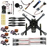 S600 4 axis Aerial Drone Quadcopter DIY FPV Welded Kit Unassembled w/ Pix2.4.8 Flight Control GPS 7M 40A ESC 700kv Motor