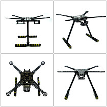 S600 DIY FPV Drone 4 axis Quadcopter Welded Kit Unassembled w/ APM2.8 Flight Control GPS 7M 40A ESC 700kv Motor AT9S TX