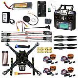 DIY FPV Drone W/ FS-I6 TX RX S600 4 axis Quadcopter APM 2.8 Flight Control GPS 7M 40A ESC 700kv Motor 4400MAH Battery Fu