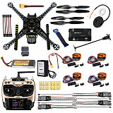 DIY FPV Drone W/ AT9S TX RX S600 4 axis Quadcopter APM 2.8 Flight Control GPS 7M 40A ESC 700kv Motor 4400MAH Battery Ful