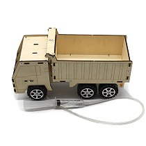 Hydraulic Lift Dump Truck Making Invention Science Experiment Toy Education DIY Wood Paintable Model Assembly Material Kids Car