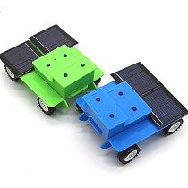 Dual Solar Panel DIY Mini Solar Powered Toy Car Assembly Science Materials Kits Vehicle Model Kids Boys Gift Educational Robot