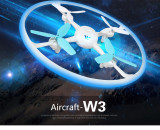ATTOP W3 2.4Ghz 4CH 0.3MP HD Camera Wifi FPV Drone with LED Light Altitude Hold G-sensor One Key Return RC Quadcopter Drone Model Toy Hobby