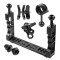 BGNING CNC Camera Aluminum Diving Bracket Set Lighting Arm Bracket Handle Grip Stabilizer Rig Combo for Sports Camera Housing Diving Case