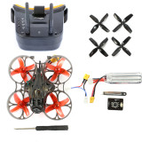 Happymodel Mobula7 HD 2-3S 75mm Crazybee F4 Pro Whoop FPV Racing Drone PNP BNF w/ CADDX Turtle V2 HD FPV Mini Camera FPV Goggles