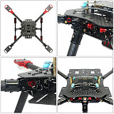 DIY GPS Drone X4 460mm Umbrella Foldable RC Quadcopter 4-Axis ARF Unassemble AT10 APM2.8 FPV Aircraft with Gimbal