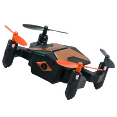 Attop XT-2 Portable Selfie Drone Mini Foldable RC Drone for Beginners and Kids One Key Take OFF WIFI FPV Altitude Hold Quadcopter 30W Wifi Version/ Standard No Camera Version (Orange, No Camera)