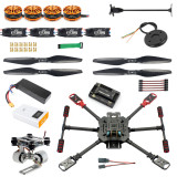 DIY GPS Drone X4 460mm Umbrella Foldable RC Quadcopter 4-Axis ARF Unassemble APM2.8 FPV Aircraft With Gimbal