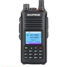 Baofeng DM-1702 GPS DMR Walkie Talkie VHF UHF Dual Band 136-174 & 400-470MHz Dual Time Slot Tier 1&2 Digital/Analog Ham Radio
