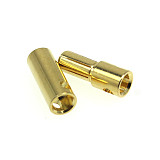 10 Pairs 5.5MM Gold-plated Banana Plug Connectors Male + Female for RC Motor ESC Battery Aircraft