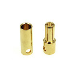 1 Pair 5.5MM Gold-plated Banana Plug Connectors Male + Female for RC Motor ESC Battery Aircraft