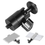 BGNing Mini 360 Swivel Ball Head Stand Mount Adapter 1/4  Tripod Screw with Lock Portable for Gopro Phone Monitor DV Light DSLR Camera