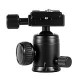 BGNING 360 Swivel Aluminum Alloy Heavy Duty Camera Tripod Ball Head + QR Quick Release Plate Mount for DSLR Camera Photo Video Studio
