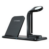 FCLUO Split 3-in-1 Fast Wireless Charger N35 Bracket Applicable to Mobile Phone Apple Headset Watch