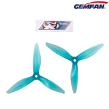 GEMFAN 5144 5inch Tri-blade/3 blade Propeller 5mm Hole PC Props Compatible 2205-2306 Brushless Motor for DIY RC Drone FPV Racing Multicopter