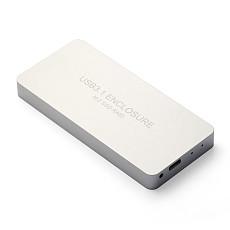 XT-XINTE USB3.1 TYPE-C to 2PORTS NGFF (M.2) SSD Raid external box / LR31-1352N / silver white