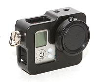 BGNING Aluminum Alloy Camera Protective Frame Housing Case Shell Metal Cover with Lens Cap Strap Cap Strap for GoPro Hero 3 3+ 4