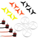 JMT Indoor FPV Racing Drone Quadcopter Parts 75mm Bwhoop75 Brushless Whoop Frame with 40mm CW CCW 3-Blade Propeller SE0603 KV16000 Motor