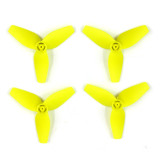 6 Pairs CW CCW 40mm Three Leaf Propellers 3-Blade 1.0mm Axis Aperture for Happymodel Mobula7 Mobula 7 716 720 8520 Hollow Cup 0603 0703 Brushless Motor