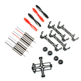 Tiny QX80 Carbon Fiber Indoor FPV Racing Copter 4-axis Frame with 1S 3.7V 8520 8.5x20mm Mini Brush Motors Props Set DIY