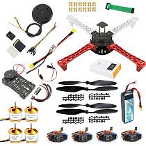 JMT QWinOut 450mm DIY Quadcopter Frame kit 920KV CW CCW Motors + 9433 Propellers + 30A ESC + APM 2.8 Flight Controller + GPS Compass