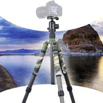 BGNING Carbon Fiber Professional Tripod Mount Ball Head Kit for DSLR SLR Digital Camera Stand Holder Photography Accessories Max 1730mm