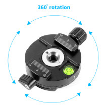 BGNING 360 Degree Panoramic Adapter Clamp Tripod Monopods Quick Release Mounting Plate For Arca Swiss SLR DSLR Camera Gimbal Accessory
