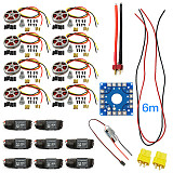 Assembled Kit : 40A ESC Controller 350KV Motor Connection Board Wire for 8-Axis Drone Multi Rotor Hexacopter