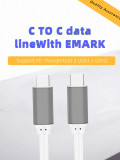 JEYI Type C to Type-c Type c Cable USB 3.1 Gen2 Cable Cord with EMARK Clip 20Gbps Charging Wire Cord Connector