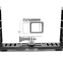XT-XINTE Aluminum Alloy Underwater Tray Housings Arm for Gopro Action Camera Holder Double Grip Dive