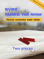 2 PCS JEYI N90 Aluminum Cooling Heatsink Thermal Pad Conductivity Silicon Heat Sink For NVME M.2 NGFF 2280 PCI-E SSD