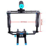 BGNing Aluminum Alloy ABS Camera Video Cage Film Movie Making Kit DSLR Cage & Handle Grip & Rod for Canon 5D2 700D 650D for Nikon D7200