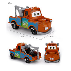 FEICHAO Children's Cartoon Car Educational Alloy Car Toy Car Model Scale 1:64 Cartoon Car Sliding Car Set SK70316-K1