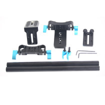 BGNing 15mm Rail Rod Support System Video Stabilizer Track Slider Baseplate 1/4  Screw Quick Release for Canon Nikon Sony DSLR Camera