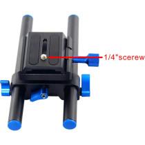 BGNING Aluminum Alloy DSLR Rail 15mm Rod Support Rig Quick Release Baseplate Kit Camera Tripod Head 1/4  Screw for 5D2 SLR Follow Focus