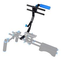 BGNing 15mm Rod Rig Camera Cage Kit + Top Handle Grip C Shape Bracket for Focus Follow System Film Movie Making Video Stabilizer DSLR